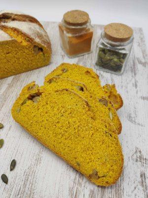 Pan de calabaza y cúrcuma